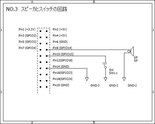 3.スピーカとスイッチの回路
