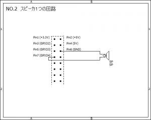 2.スピーカ1つの回路